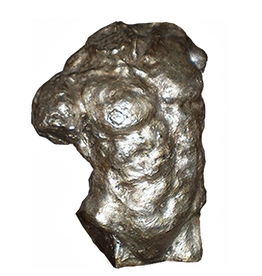 Himeros Silver Male Torso Figure Decorative Sculpture