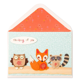 PAPYRUS® Thanksgiving Card Thinking Of You - Woodland Fall Animals