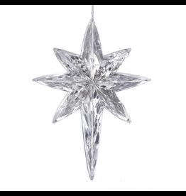 Kurt Adler Clear Acrylic Faux Crystal Rainbow Polaris Star Ornament