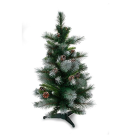 Darice Christmas Tree Frosted Glacier  w Pine Cones 36 Inch Non-Lit