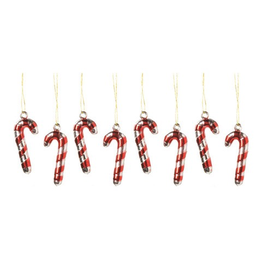 Darice Christmas Mini Metallic Candy Cane Ornaments 1 inch Set of 8