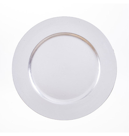 Darice Charger Plates 13 inch Pack of 6 - Silver