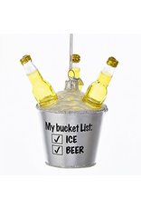 Kurt Adler Beer Bucket List Glass Ornament 3.5 Inch Noble Gems