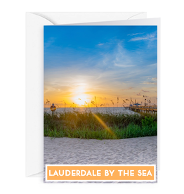 Charles W Blank Note Gift Card Holder Lauderdale-By-The-Sea Pier II,