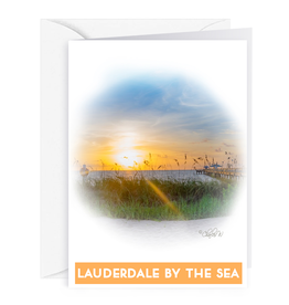 Charles W Blank Note Gift Card Holder Lauderdale-By-The-Sea Pier I