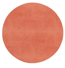 Caspari Placemats Round Felt Backed Coral Snakeskin
