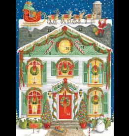 Caspari Christmas Advent Calendar Card - Home For Christmas