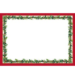 Caspari Christmas Gift Tags To From Self Adhesive 5pk Red w Garland