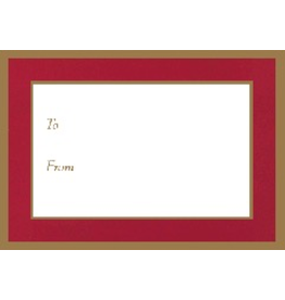 Caspari Christmas Gift Tags To From - Self Adhesive 5pk Red Gold