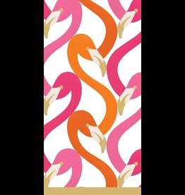 Caspari Paper Facial Tissues  Flamingo Flock Fuchsia Pack Of 10 Hankies