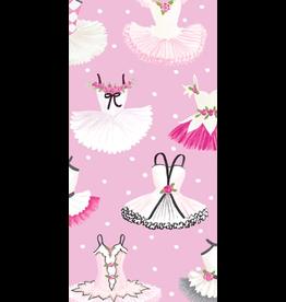Caspari Paper Facial Tissues Christmas Hankies 10pk Tutus Ballerinas
