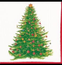Caspari Christmas Paper Cocktail Napkins 20pk Glittering Tree