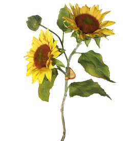 Winward Sunflowers Spray - Artifical Flowers Sun Flower Stem 18 inch