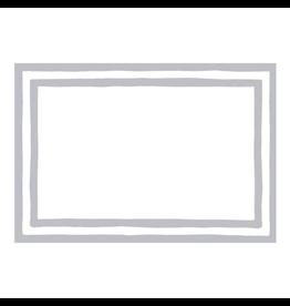 Caspari Table Place Cards 8pk Stripe Border Silver Foil
