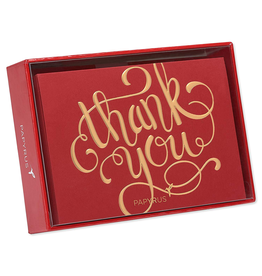 PAPYRUS® Boxed Cards Thank You Gold Foil on Red 12pk