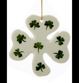 Kurt Adler Irish Christmas Ornament Porcelain Shamrock