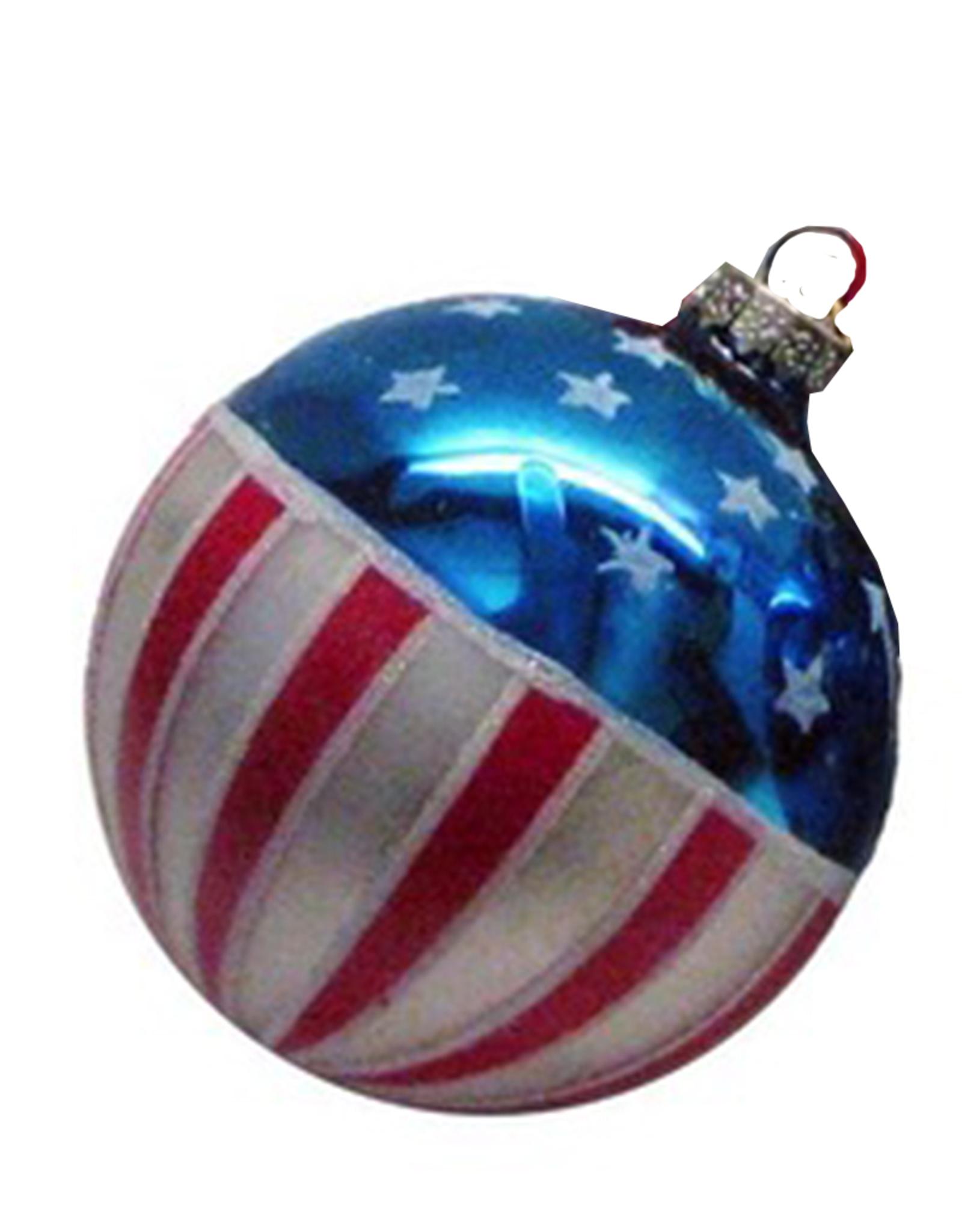 Kurt Adler USA Flag Red White Blue Patriotic Ornaments 80mm