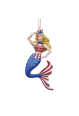 Kurt Adler Mermaid Ornament USA Red White Blue Patriotic Americana