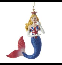 Kurt Adler Mermaid Ornament United Kingdom - British International Mermaid