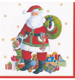 Caspari Christmas Paper Luncheon Napkins 20pk Santa Claus Lane