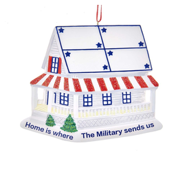 Kurt Adler Home Is Where Military Sends Us Christmas Ornament