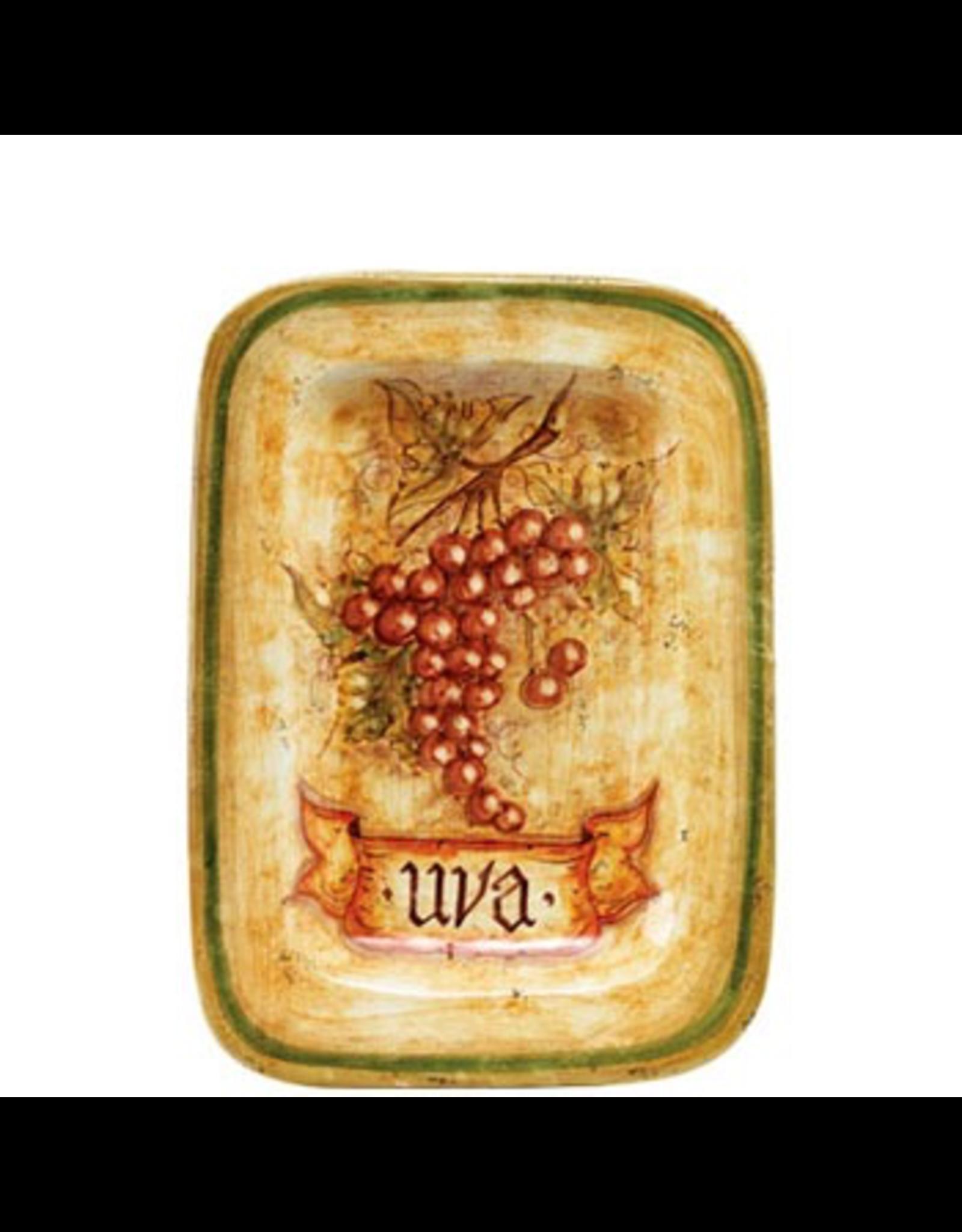 Botanica Rectangular Red Grapes Wall Plate BTA-3228