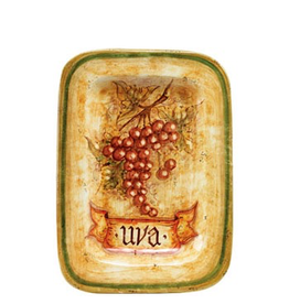 Botanica Rectangular Red Grapes Wall Plate BTA-3228