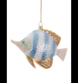 Kurt Adler Glass Angel Fish Ornament 4.75 inch -B