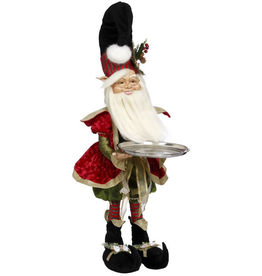 Mark Roberts Fairies Elves North Pole Decorator Elf with Platter XLG 37 inch