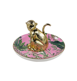 Lilly Pulitzer® Ring Holder Ring Dish with Gold Chimp - Chimpoiserie
