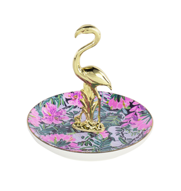 Lilly Pulitzer® Ring Holder Ring Dish With Gold Flamingo - Slathouse Soiree
