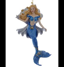 Kurt Adler Mermaid In Clam Shell Ornament Holding Star