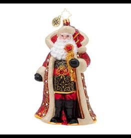 Christopher Radko Illustrious Santa Christmas Ornament