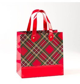 PAPYRUS® Christmas Gift Bag Medium 8.5x8.5x4.5 Plaid Chic