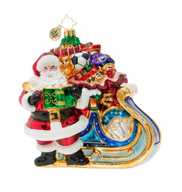 Christopher Radko Delivery on Its Way Christmas Ornament