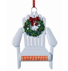 Kurt Adler Lauderdale By The Sea Adirondack Chair Souvenier Ornament