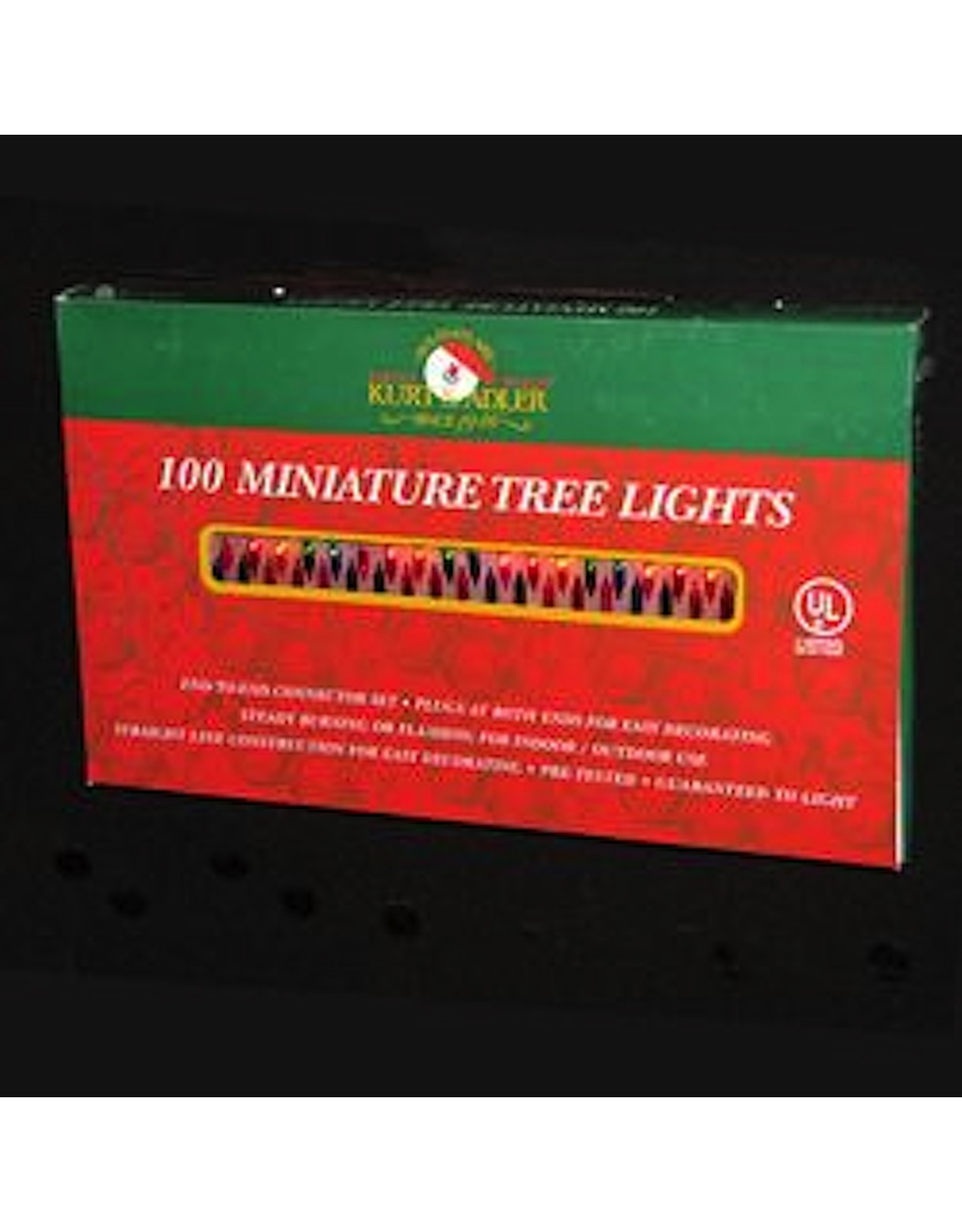 Kurt Adler 100 Multi Color Miniature Christmas Tree Lights Set Green Wire