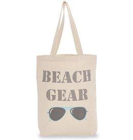 Mud Pie Canvas Beach Tote Bag w Handles - Beach Gear