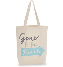 Mud Pie Canvas Beach Tote Bag w Handles - Gone To the Beach