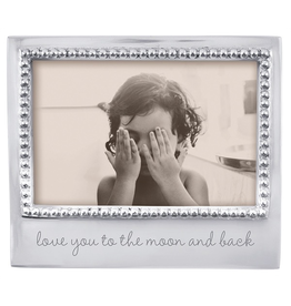 Mariposa Photo Frame Engraved w Love You To The Moon And Back for 4x6 Photo