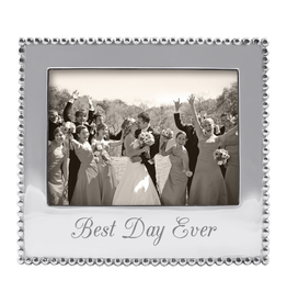 Mariposa Photo Frame Engraved w Best Day Ever for 5x7 Photo