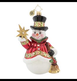 Christopher Radko Star Struck Snowman Christmas Ornament