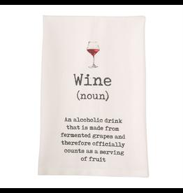 Mud Pie Wine Hand Towel w Wine Definition