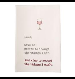 Mud Pie Wine Hand Towel w Lord Give Me Coffee To Change The …