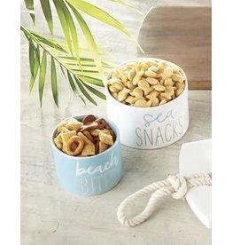 Mud Pie Beach House Dip Cups Nut Bowls Set Sea Snacks Beach Bites