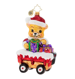 Christopher Radko Santa Bear Delivery Christmas Ornament