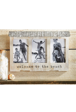 Mud Pie Beach House Triple Frame w Welcome To The Beach
