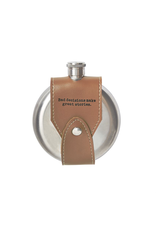 Mud Pie Leather Sentiment Flask 4oz w  Bad Decisions Make Great Stories
