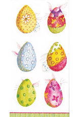 Caspari Easter Paper Facial Tissues Eggs And Bunnies 10pk
