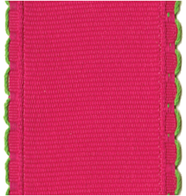 Caspari Fuchsia Scallop Edge Wired Ribbon 1.5w x 6yds